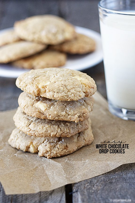 Easy White Chocolate Drop Cookies - Live Laugh Rowe
