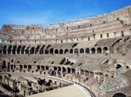Beautiful Rome. The Roman Colosseum.