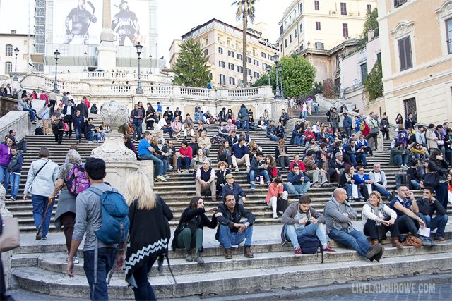 The infamous Spanish Steps.  A hangout for romantics!