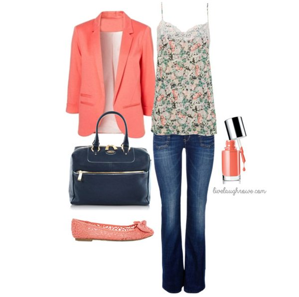 Perfectly spring!  Floral and Coral.  #spring #fashion