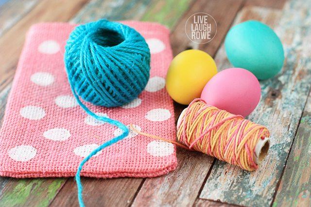 Color palette for DIY Burlap Easter Treat Bags. livelaughrowe.com #easter