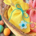 Burlap Easter Bags