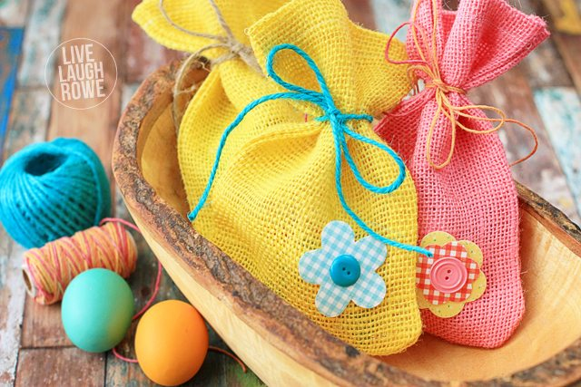 Burlap easter bags live laugh rowe diy burlap treat bags perfect for easter or spring perfect for gifting sweets or small negle Gallery