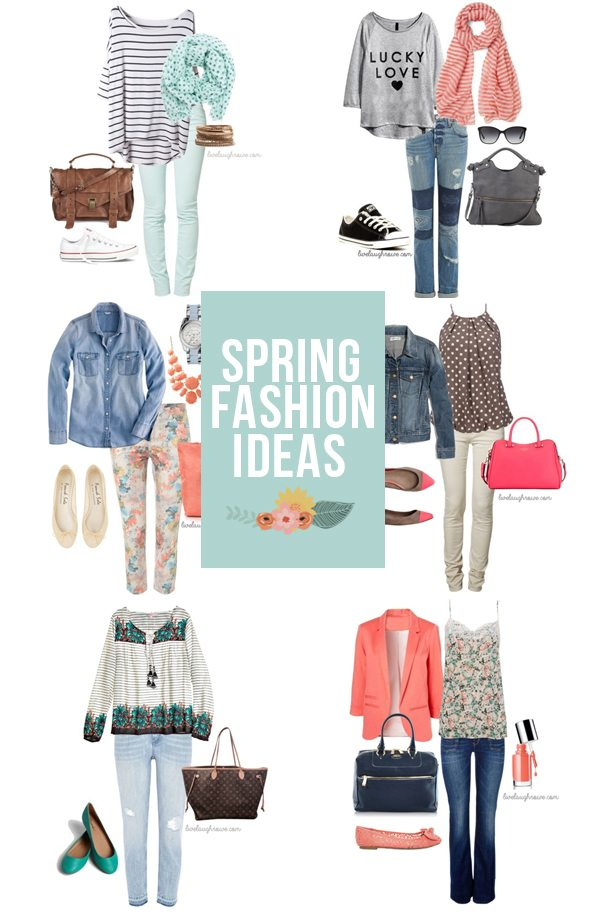Spring is right around the corner!  Here are 7+ Spring Fashion Ideas to keep in mind.  I'm loving these color palettes! www.livelaughrowe.com #spring #fashion
