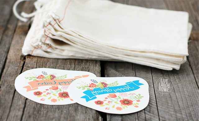 Cut out the Spring and Easter Iron-On Transfers. livelaughrowe.com