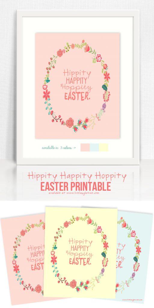 Hippity Happity Hoppity Easter Printable Live Laugh Rowe