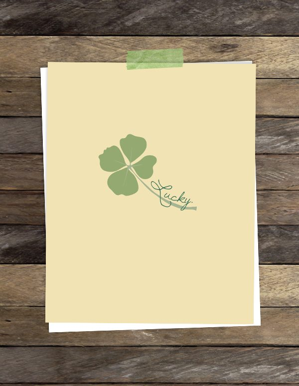 Lucky Four Leaf Clover.  Great print for St. Patrick's Day.
