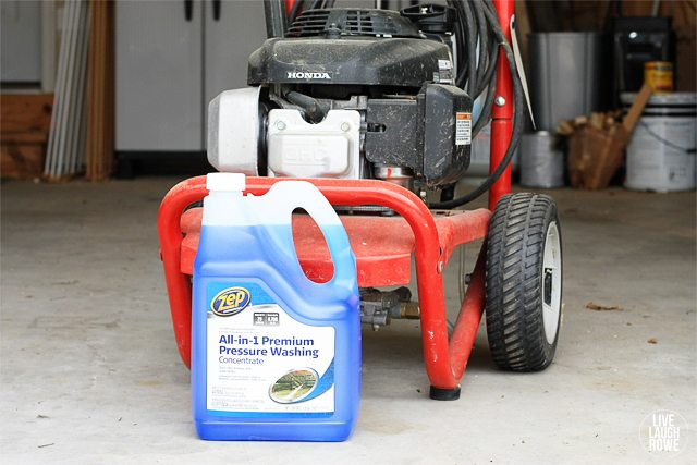 Supplies for poweer washing:  Power Washer and Cleaner.