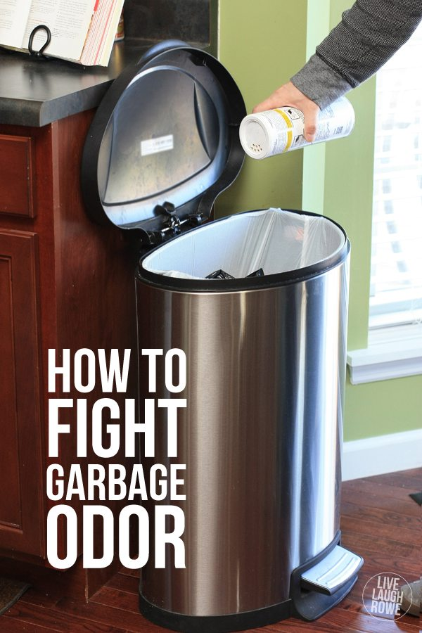 How to fight garbage odor with a sprinkle or two of Garbage Odor Eliminator!  www.livelaughrowe.com #ZepSocialStars #ad