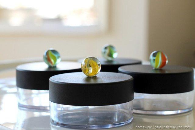Marble Jar Knobs via homework