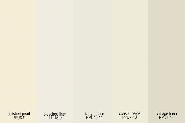A few paint swatches we grabbed to consider when repainting our master bedroom. Care to weigh in?