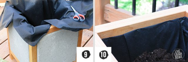 Step by Step on how-to make a DIY Paver Planter Box. www.livelaughrowe.com