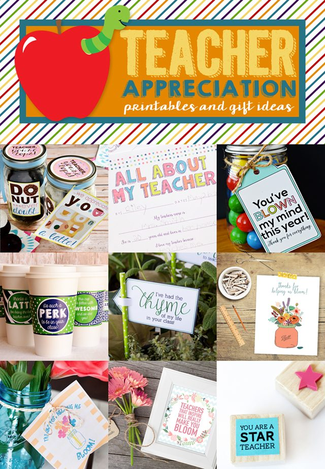 "Love this teacher appreciation printable, ""Thanks for Helping us Bloom!"" www.livelaughrow.com #teachers #printable"