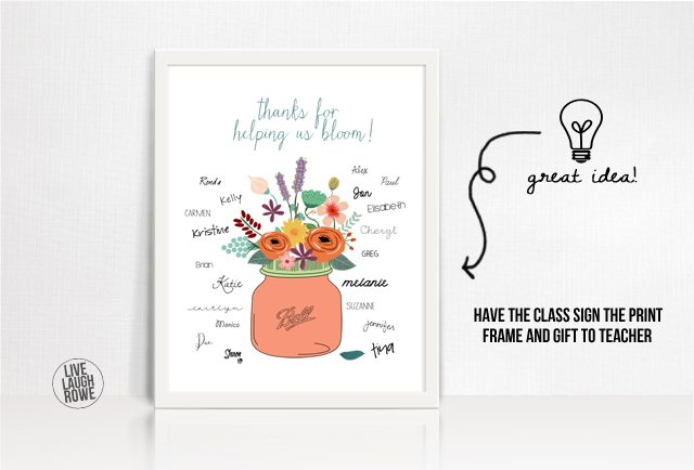 Thanks For Helping Us Bloom Teacher Appreciation Printable
