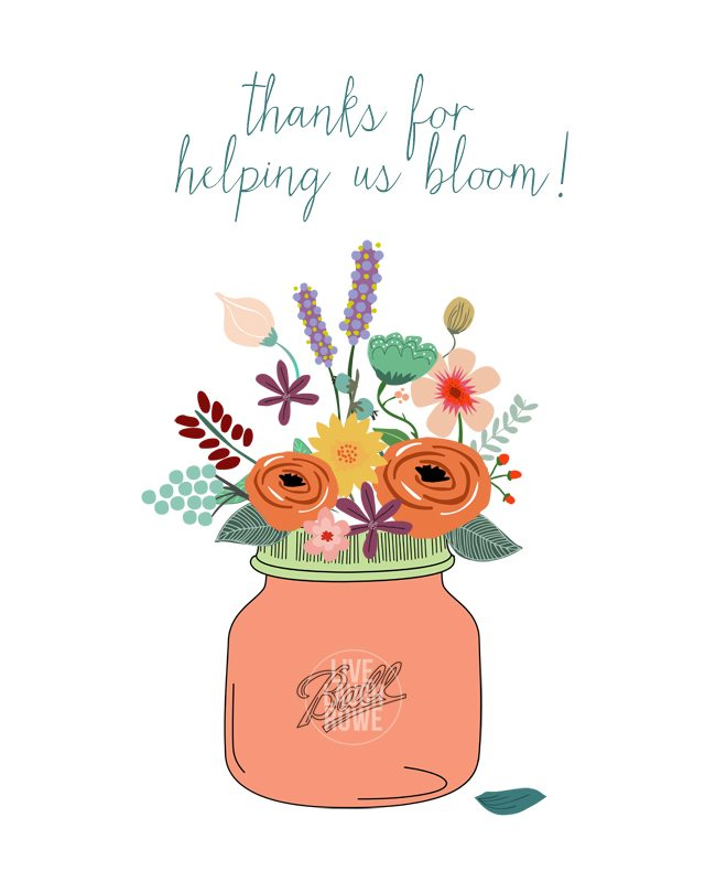 It is a photo of Priceless Thank You for Helping Us Grow Printable