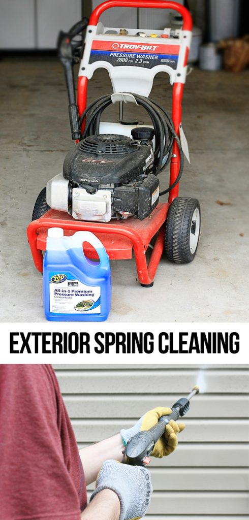 How often do you Spring Clean the exterior of your home?  Talking about power washing and what we use!  livelaughrowe.com #ZepSocialstars #ad