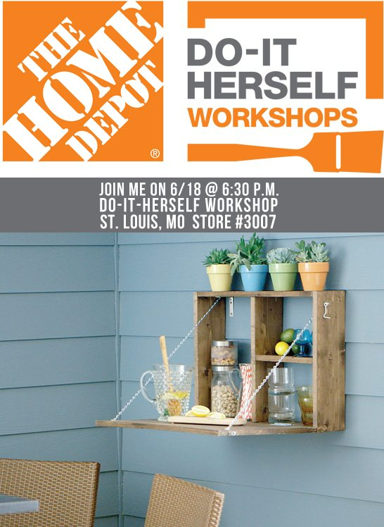 Join me on Thursday, June 18th at 6:30 p.m. for the DIH Workshop being held at the St. .Louis Home Depot (Store #3007). www.livelaughrowe.com