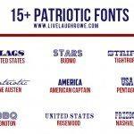 15+ Free Patriotic Fonts