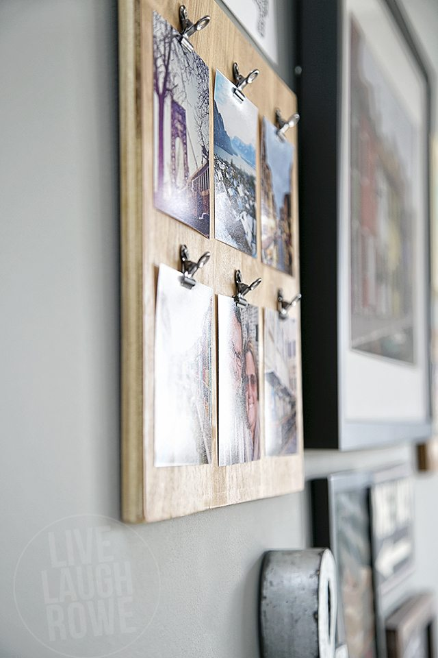 A super fun way to display your instagram pictures! Make a fun (and easy) DIY Instagram Photo Frame. www.livelaughrowe.com