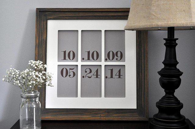 Date Wall Art - Little Glass Jar