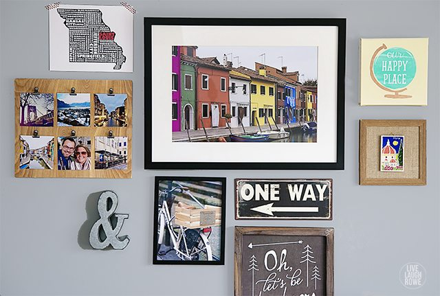 Travel-Themed Gallery Wall - Live Laugh Rowe