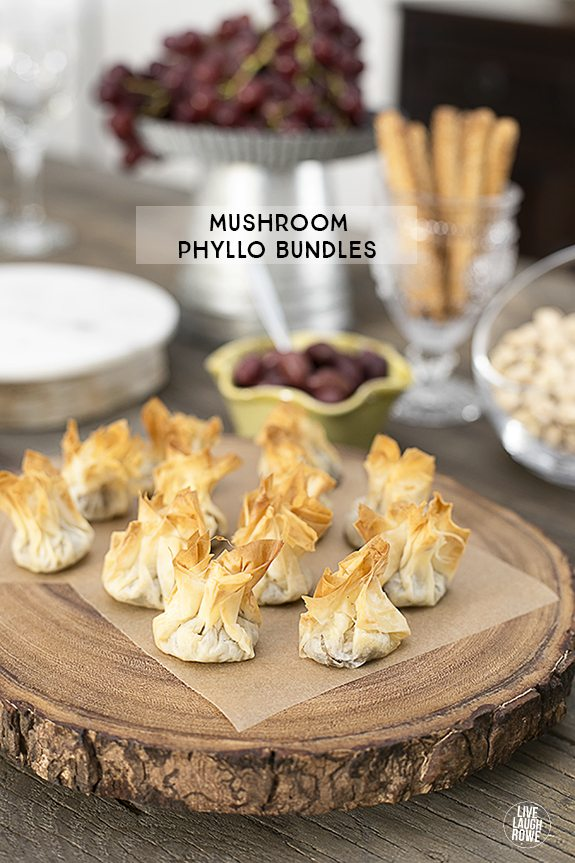 Delicious Mushroom Phyllo Bundles are a delectable appetizer and they ...