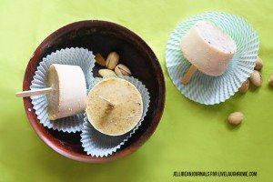 Delicious Pistachio Peanut Popsicles Recipe. livelaughrowe.com