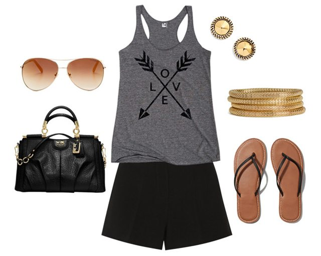 Summer Fashion Ideas. Black Shorts and Tank - Live Laugh Rowe