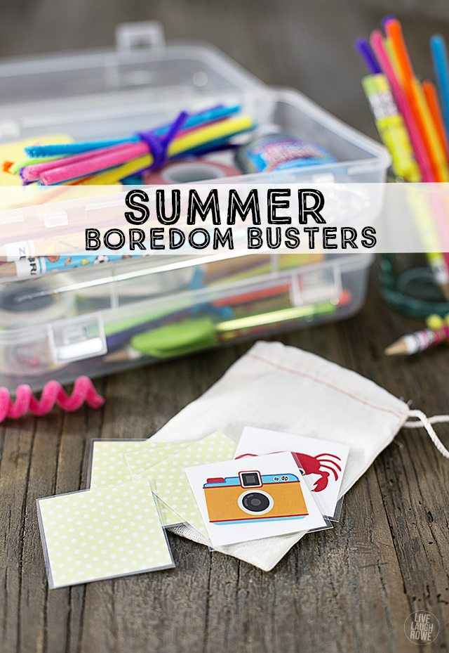 Fun Summer Boredom Busters and a FREE Printable Memory Matching Game.  livelaughrowe.com