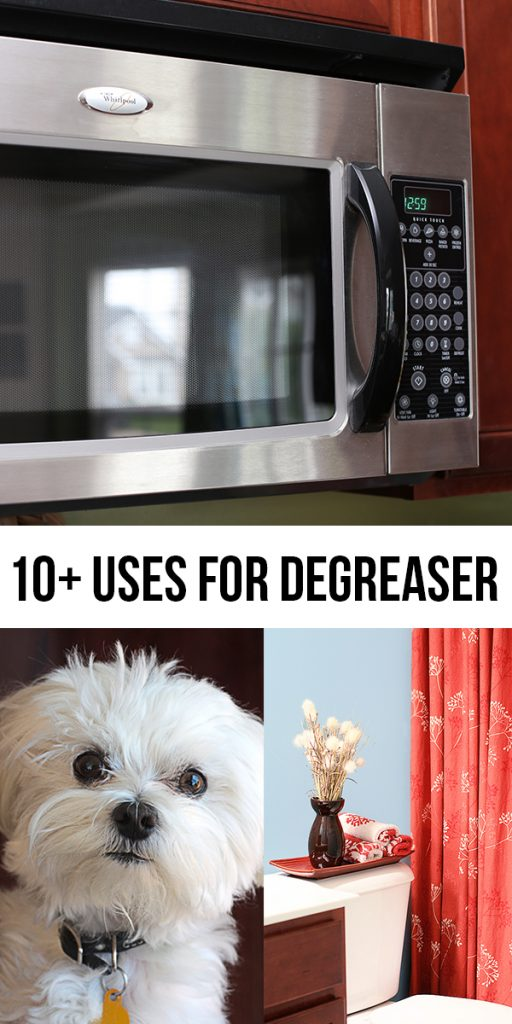 Degreaser has so many more uses than cleaning grease up in your kitchen!  Here are 10+ uses for degreaser to keep in your back pocket.  www.livelaughrowe.com