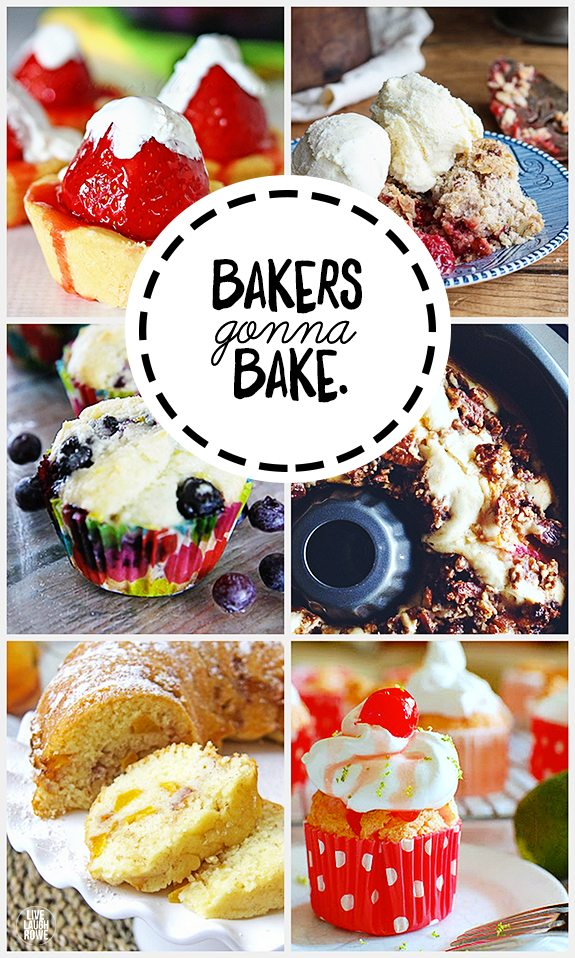 Bakers Gonna Bake, right?  Try your hand at these yummy recipes. www.livelaughrowe.com #inspiration2