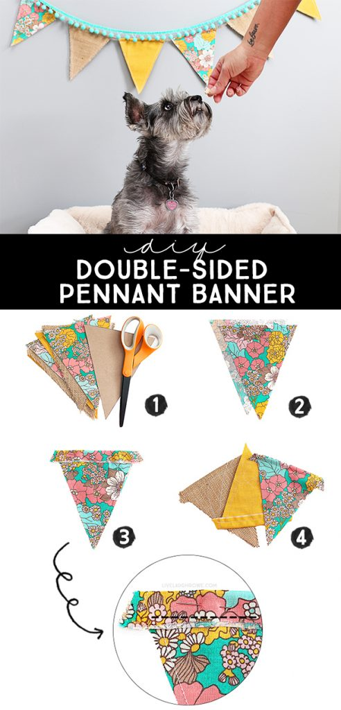 DIY Double Sided Pennant Banner - Live Laugh Rowe