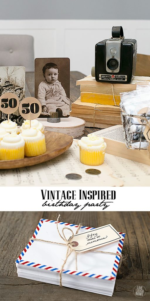 Great ideas for a vintage inspired birthday party! www.livelaughrowe.com