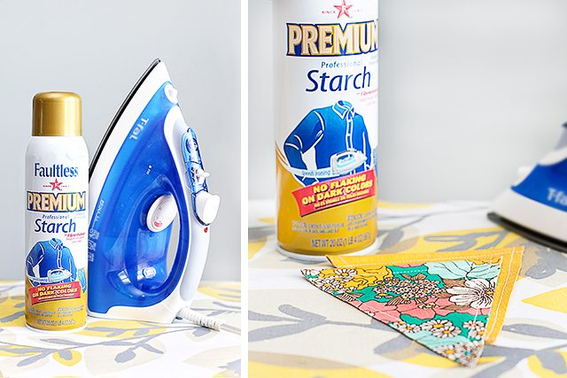 Faultless Spray Starch to the rescue! No flake, stick or clog guarantee.