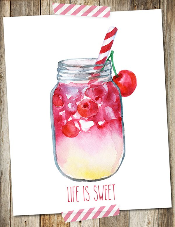 Life is Sweet Printable by I Should Be Mopping the Floor