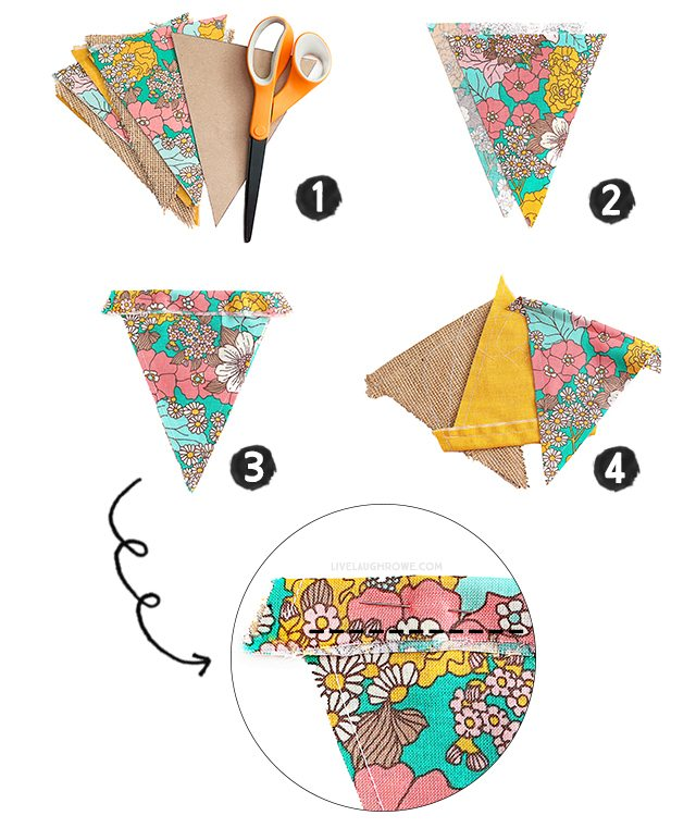 I love pennant banners! This double-sided pennant banner tutorial is perfect.