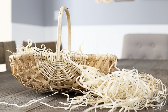 Use natural excelsior as a basket filler before adding goodies!