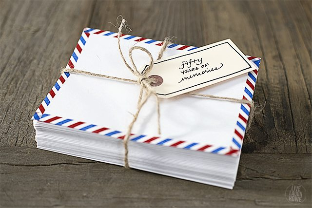 Have friends and family send letters with memories from years gone by!