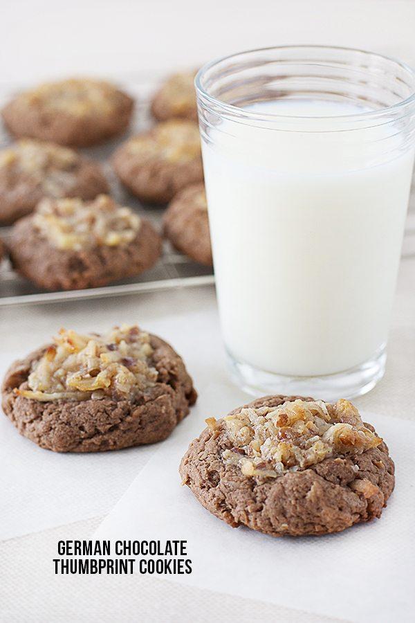 Chocolate Thumbprint Cookies german chocolate thumbprint cookies ...