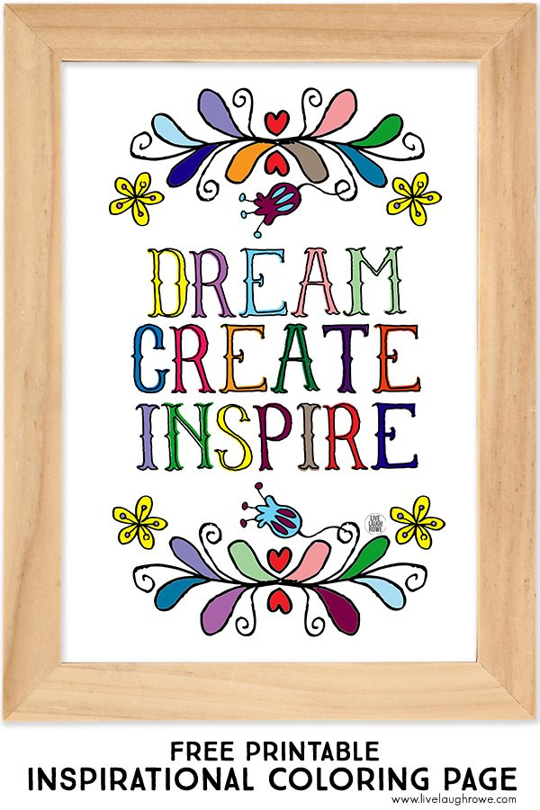 Creative Quotes Coloring Book Just Breathe Colored : Free coloring pages