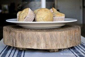 DIY Wood Slab Cake Stand