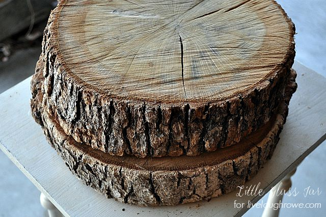 DIY Wood Slab Cake Stand. Wood Slabs.