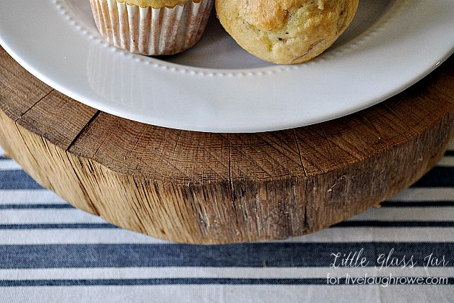 Cake Stand wood detail