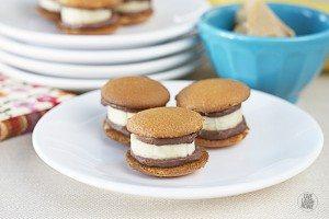 Frozen Chocolate-Peanut Butter Banana-Cookie Bites