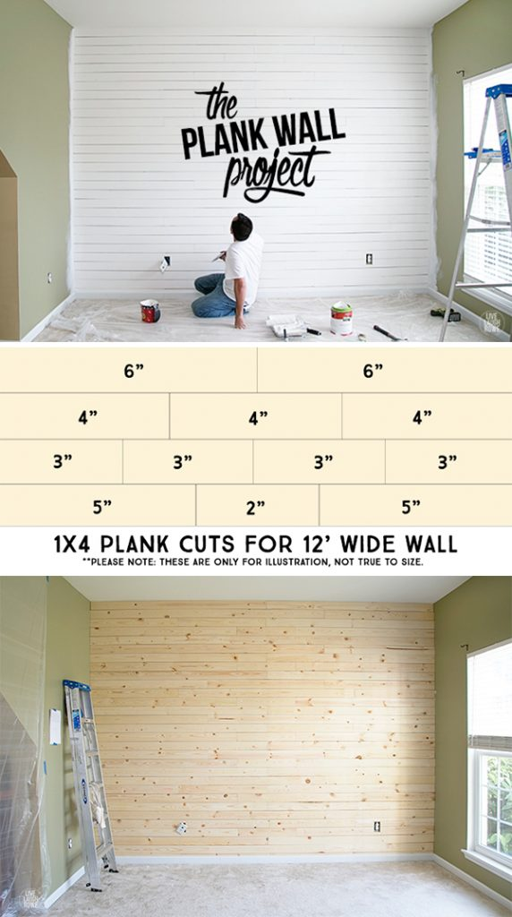 Our first plank wall project! It's been a lot of work, but it's all kinds of awesome sauce! livelaughrowe.com