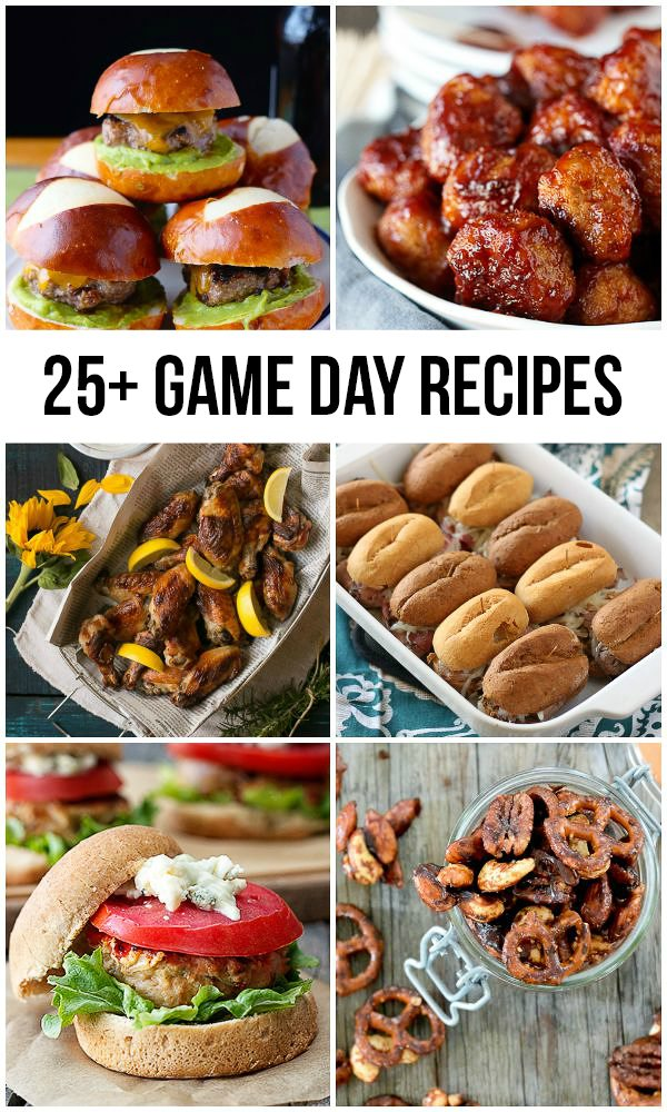 FOOTBALL SEASON IS HERE! Here are 25+ Game Day Recipes to enjoy with friends and family. livelaughrowe.com