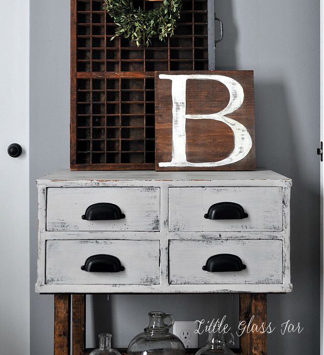 Four Drawer Side Table. Neutral decor