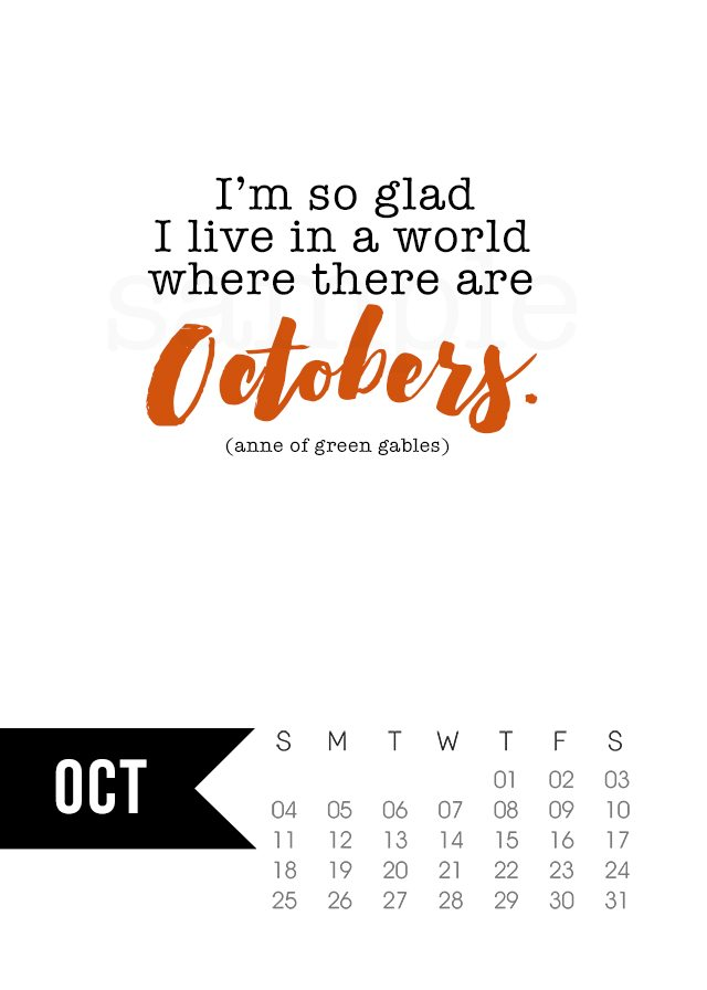 Funny Monthly Calendar Quotes : October calendar printable live laugh rowe