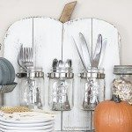 Rustic Pumpkin with Mason Jars