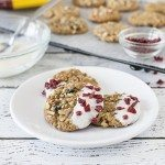 White Chocolate Dipped Oatmeal Raisin Cookies